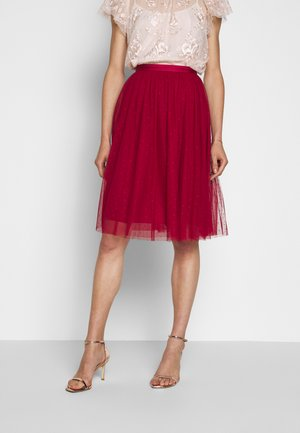 KISSES MIDI SKIRT EXCLUSIVE - A-Linien-Rock - deep red