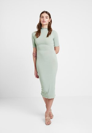 LETTICE EDGE TURTLENECK - Etui-jurk - light green