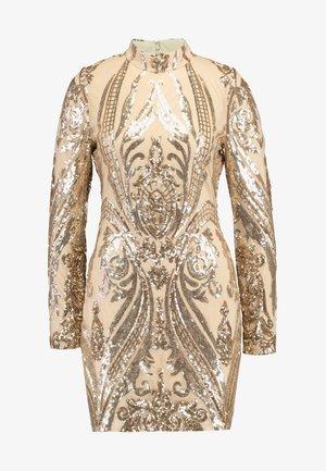 SEQUIN DRESS - Vestido de cóctel - champagne