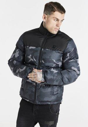 PRINTED CROP BUBBLE - Winter jacket - black