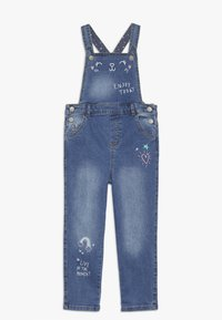 mothercare - DUNGAREE - Hängselbyxor - denim - 0