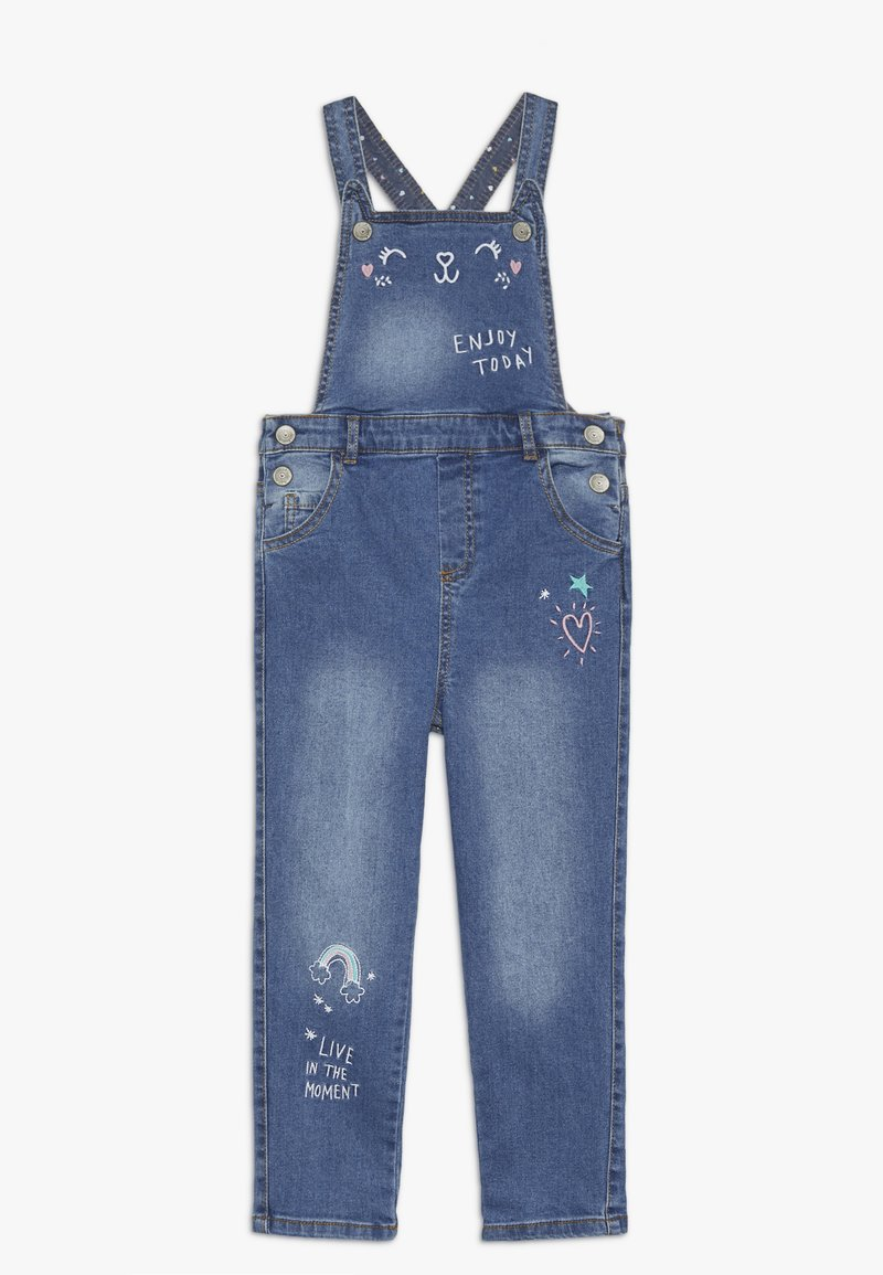 mothercare - DUNGAREE - Hängselbyxor - denim