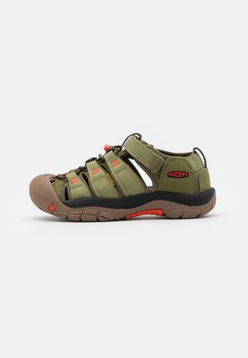NEWPORT H2 UNISEX - Walking sandals - olive drab/orange