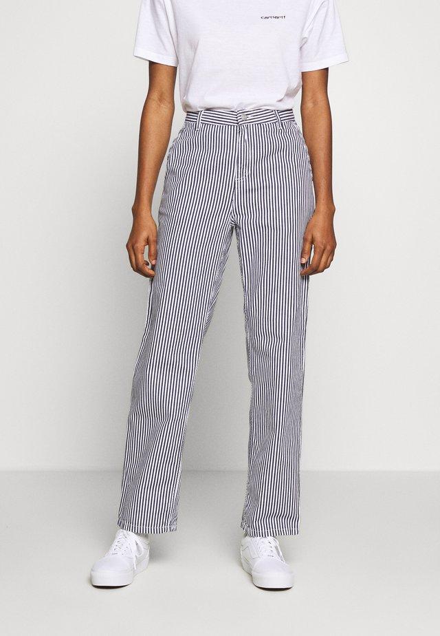 PIERCE PANT STRAIGHT HIALEAH - Pantaloni - blue/white