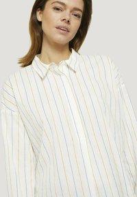 TOM TAILOR DENIM - Overhemdblouse - small creme blue yellow stripe - 4