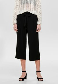 ONLY - ONLWINNER PALAZZO CULOTTE PANT - Trousers - black - 0