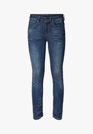 ARC 3D MID  - Skinny-Farkut - dark-blue denim