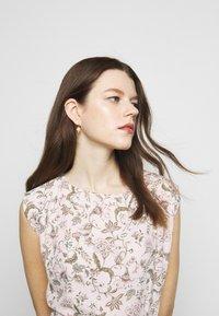 Lauren Ralph Lauren - VILODIE CAP SLEEVE CASUAL DRESS - Vestido informal - pink multi - 4