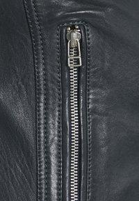 Serge Pariente - ERIK HOOD - Leather jacket - blue - 3