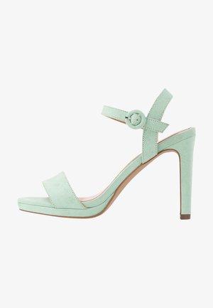 High heeled sandals - mint