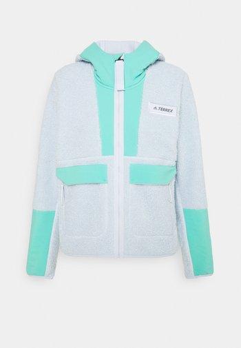TERREX SHERPA HOODED - Fleece jacket - acid mint/halo blue