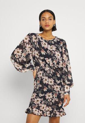 VIJANELLE PRINT O NECK DRESS - Day dress - navy blazer