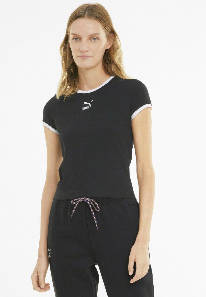 Puma - CLASSICS - T-shirt imprimé - black