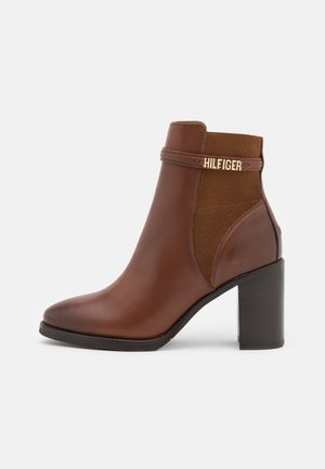 BLOCK BRANDING BOOT - High heeled ankle boots - pumpkin paradise