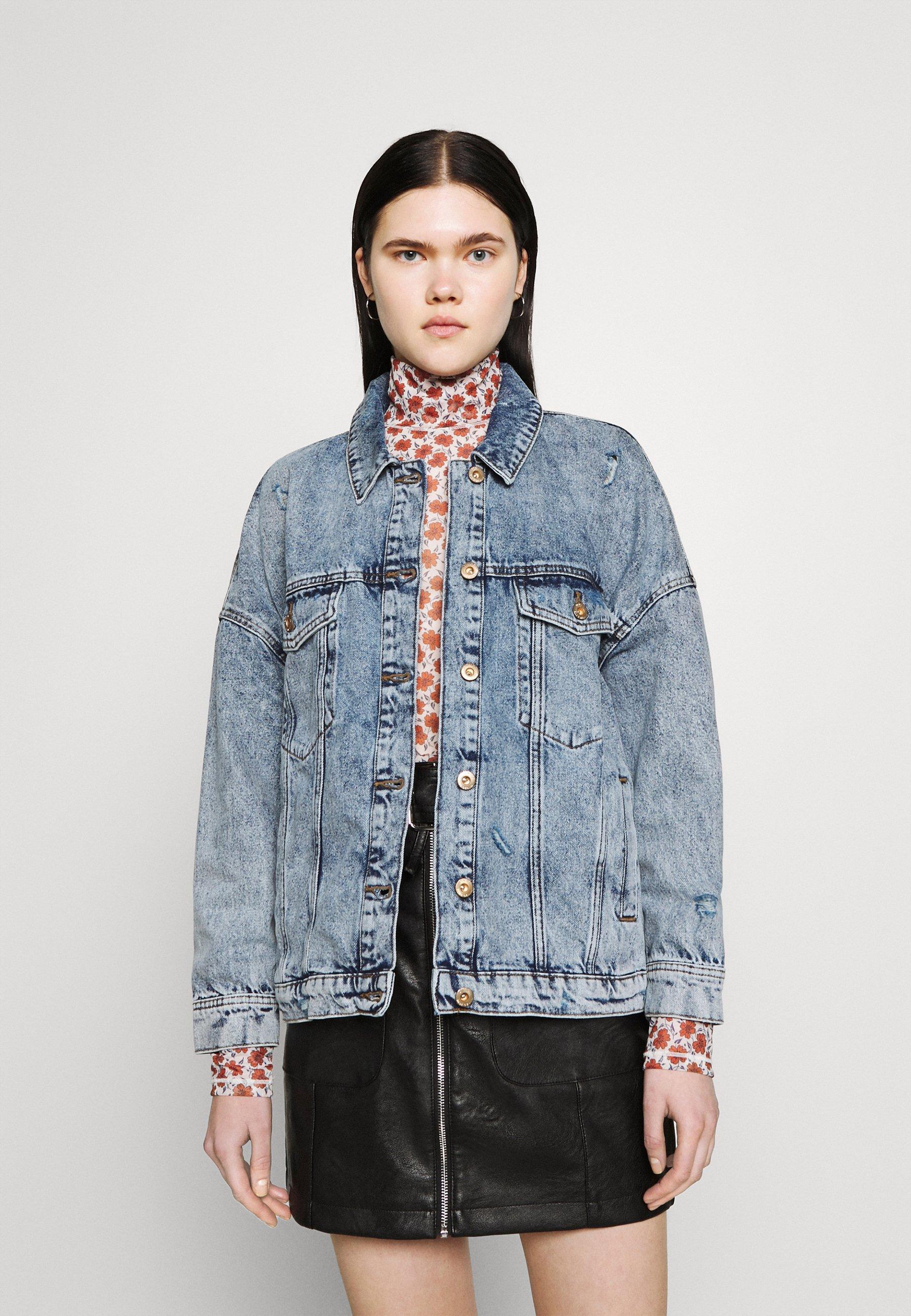 Women ONLSAFE LIFE OVERSZE - Denim jacket