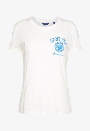 PEONY LOGO GRAPHIC - T-shirt z nadrukiem - eggshell
