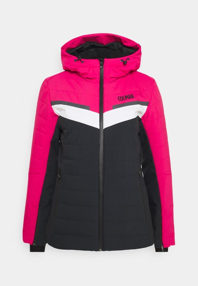 LADIES SKI JACKET - Ski jas - black/frozen berry/white