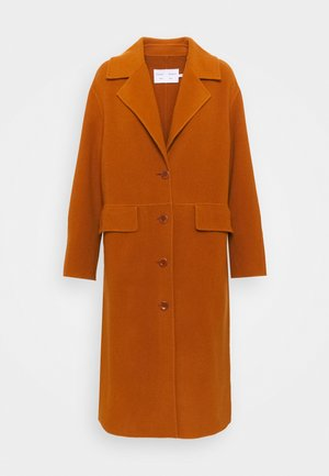 DOUBLEFACE COAT WITH SIDE SLITS - Zimní kabát - chestnut