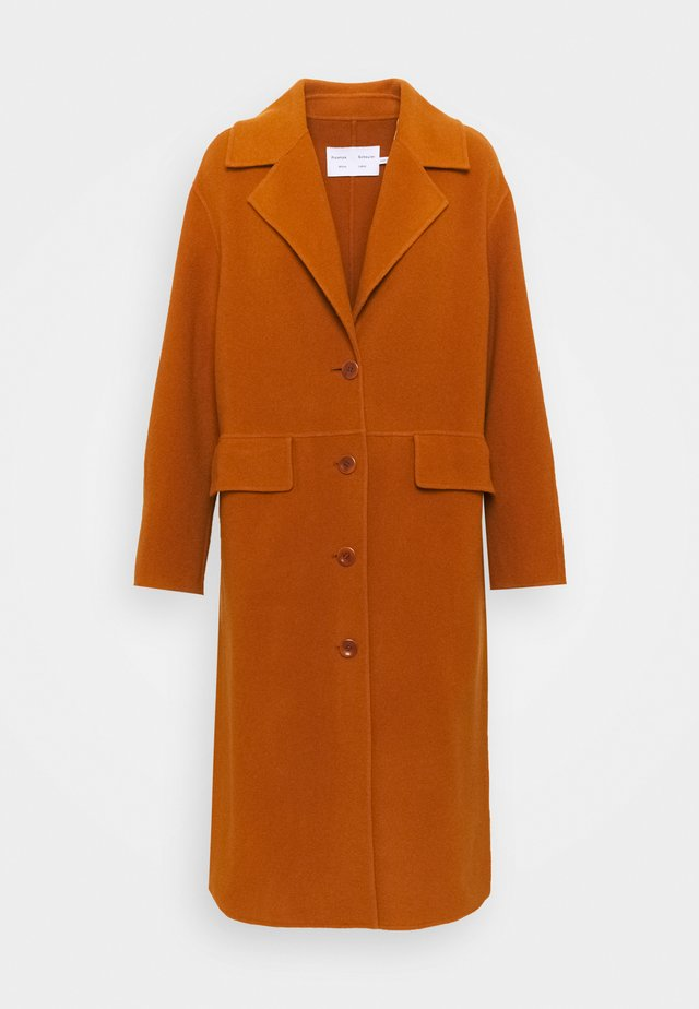 DOUBLEFACE COAT WITH SIDE SLITS - Frakker / klassisk frakker - chestnut