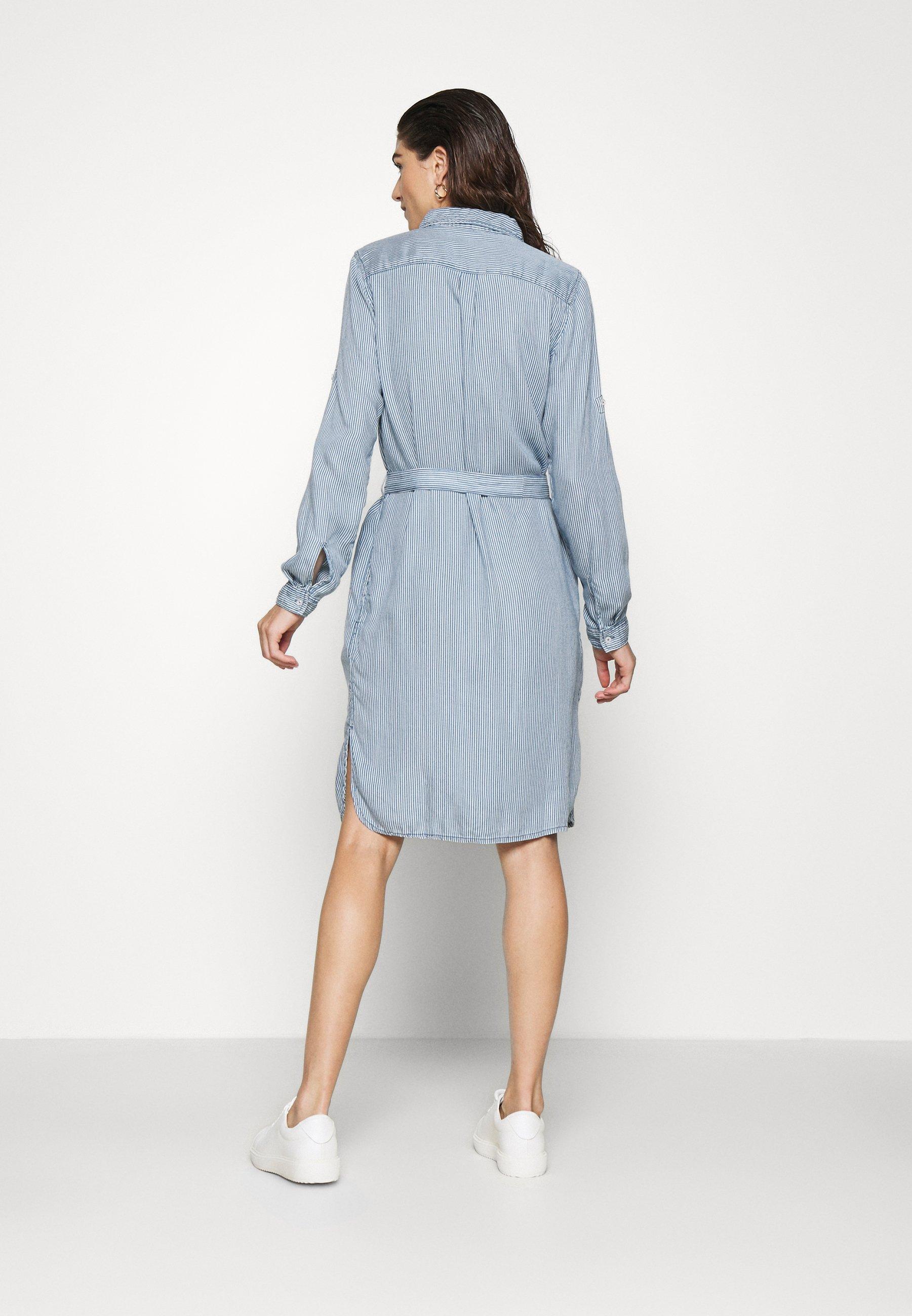 Herrlicher SKARA DRESS STRIPE Blusenkleid indigo/blau