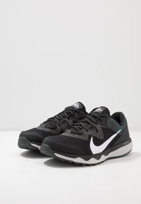 Nike Performance - JUNIPER - Trail running shoes - black/white/dark smoke grey/grey fog - 2