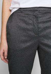 KARL LAGERFELD - SPARKLE TUXEDO PANTS - Kalhoty - black - 4