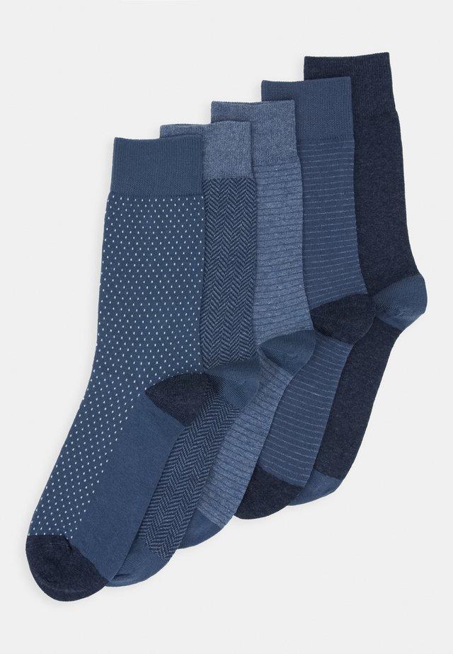 5 PACK - Socks - mottled blue