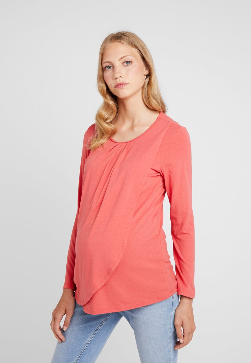Spring Maternity - ABENA TEE - Long sleeved top - coral