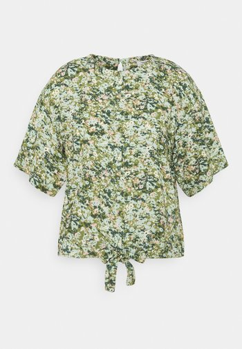 BLOUSES SHORT SLEEVE - Print T-shirt - multi/fresh herb