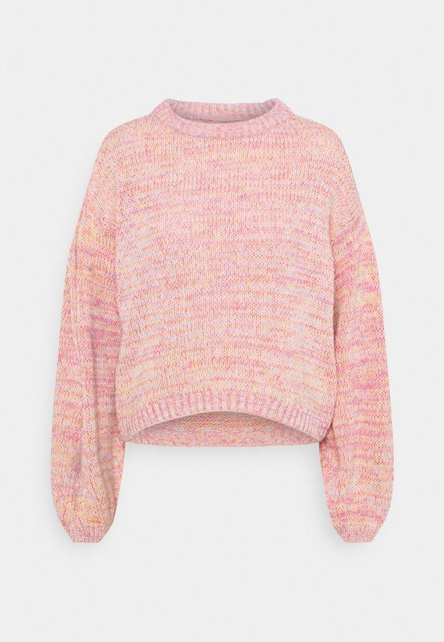 ONLGENNY - Stickad tröja - blush/multi melange