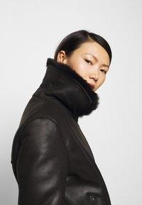 STUDIO ID - BIKER JACKET - Leather jacket - black/dark grey - 5