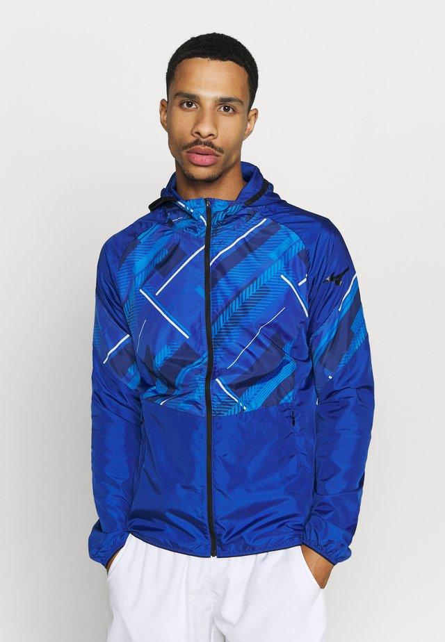 PRINTED JACKET - Training jacket - mazarine blue