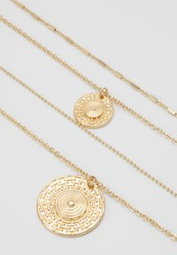 Miss Selfridge - EGYPTION COIN DOUBLE ROW NECKLACE - Collier - gold-coloured - 3