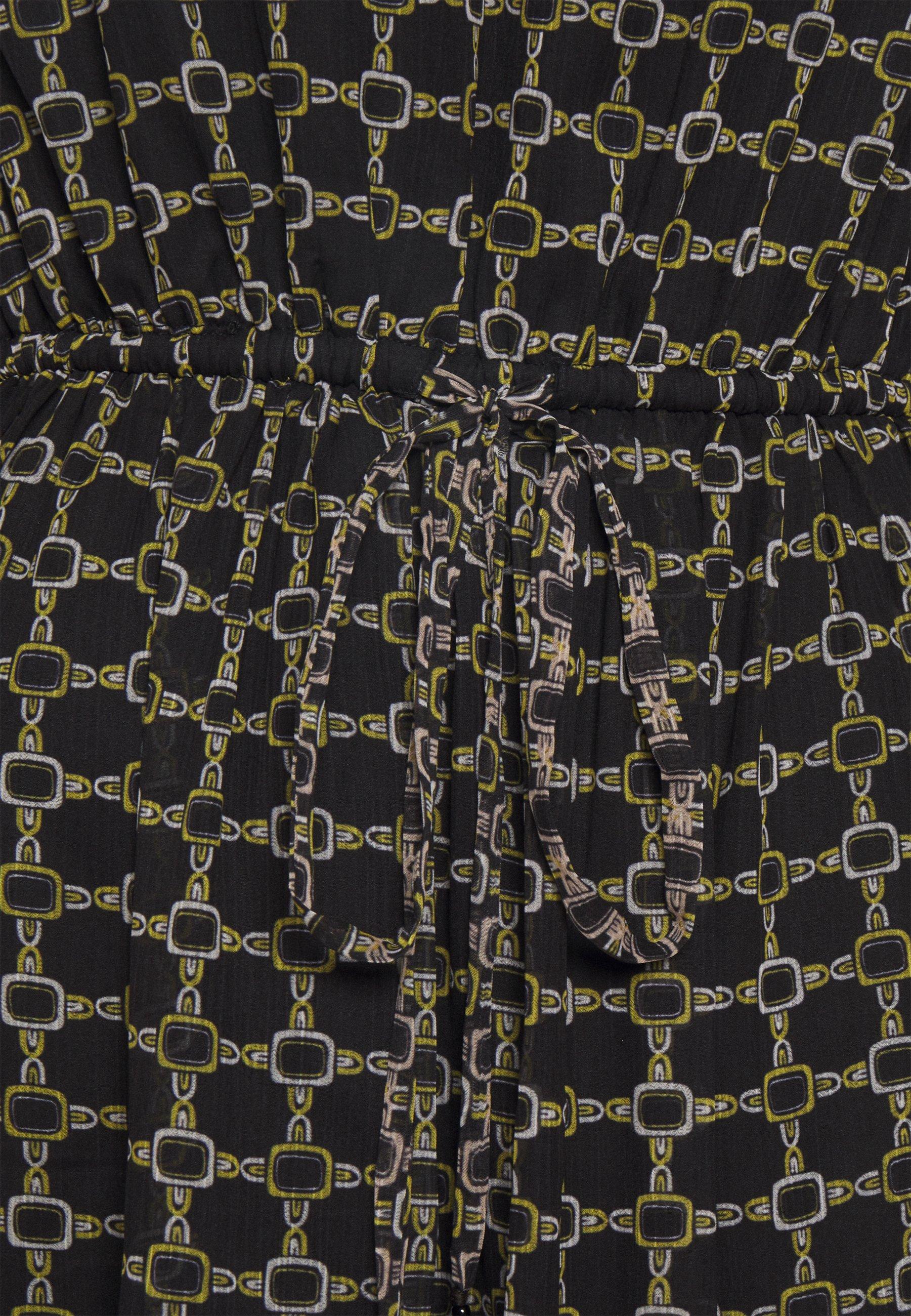 Derhy ELABORATION Maxikleid brown/schwarz
