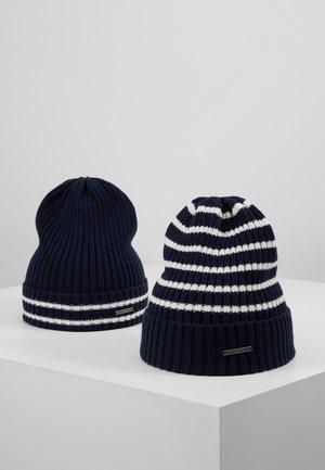 2 PACK - Mütze - white/dark blue