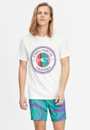 T-shirt con stampa - powder white
