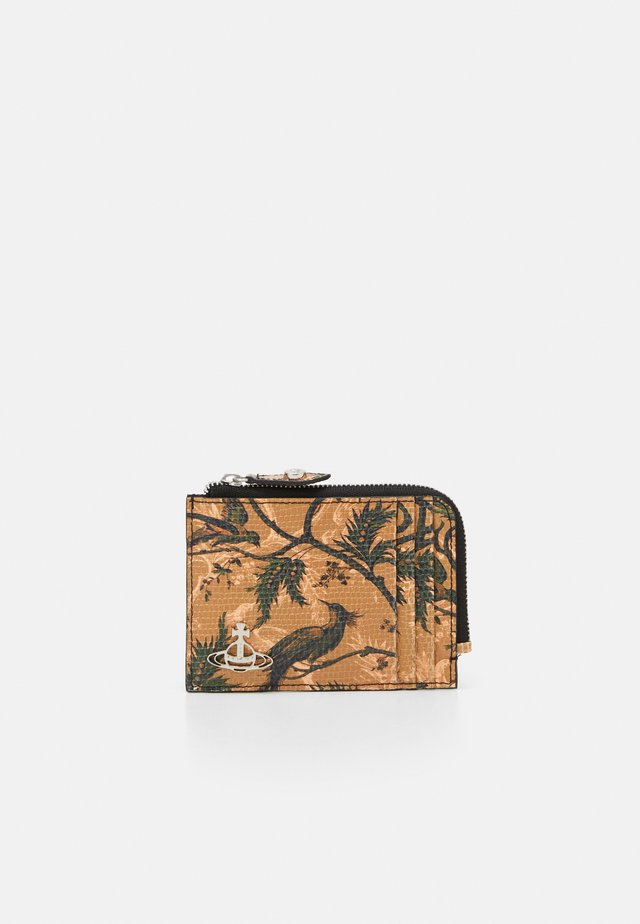 KENT ZIP CREDIT CARD HOLDER - Peněženka - brown