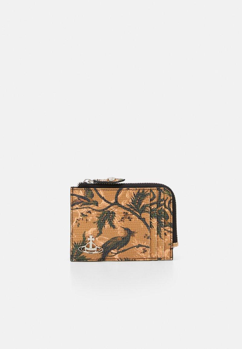 Vivienne Westwood - KENT ZIP CREDIT CARD HOLDER - Peněženka - brown