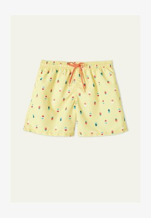 MIT PRINT - Swimming shorts - giallo st ice cream