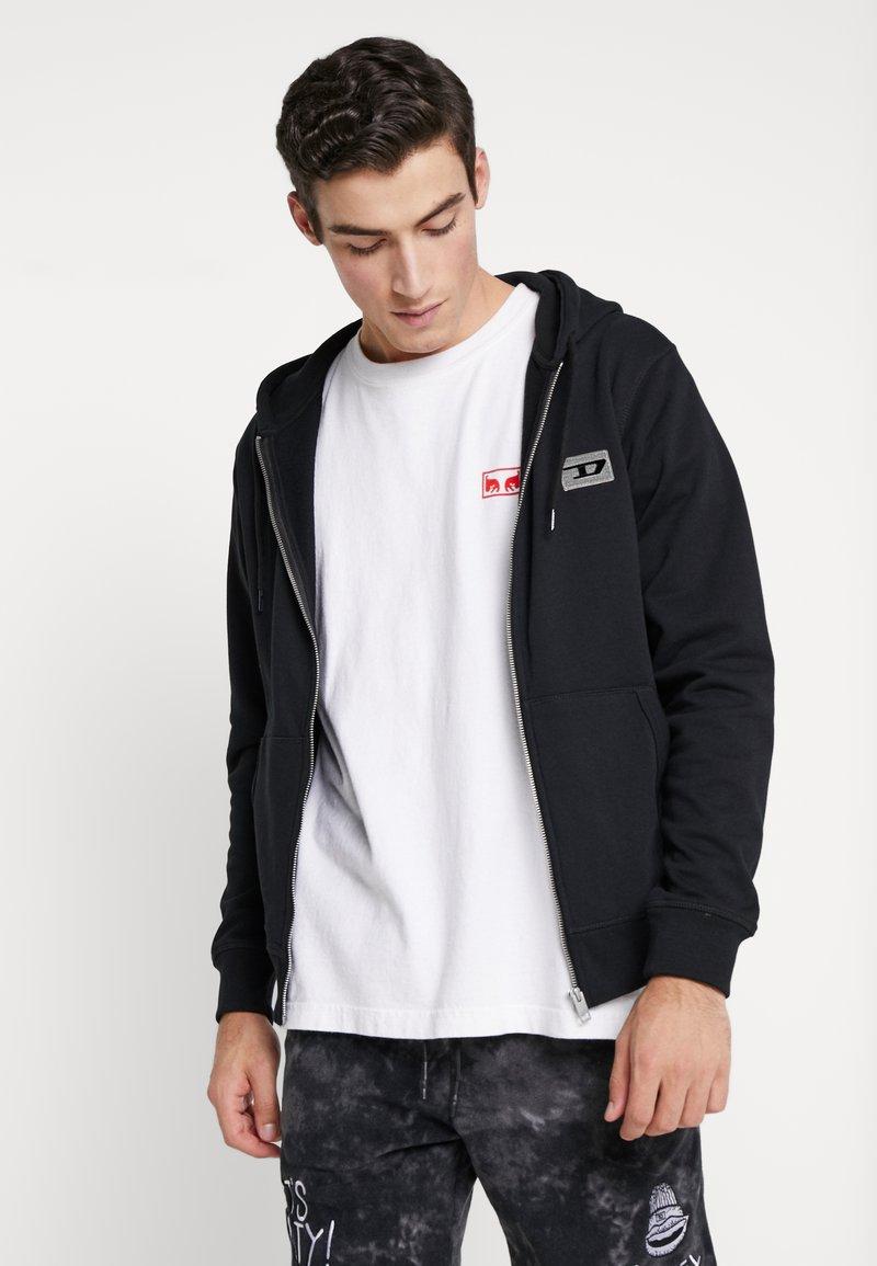 Diesel - BRANDON - Zip-up hoodie - black