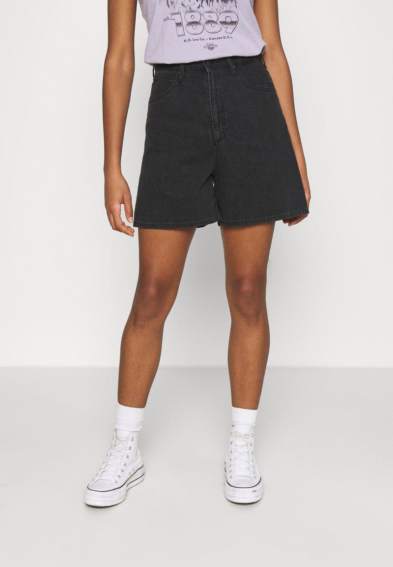 Lee - STELLA - Shorts di jeans - black duns