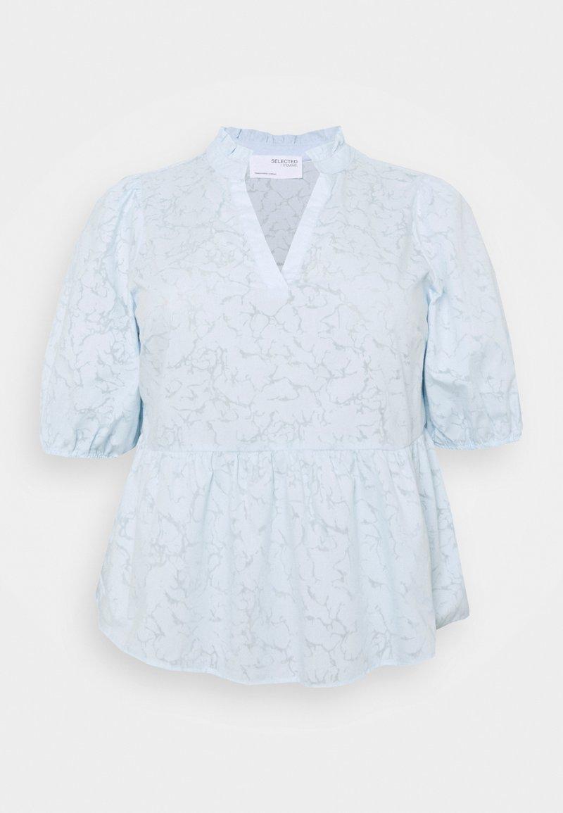 Selected Femme Curve - SLFPERNIL - Print T-shirt - arctic ice