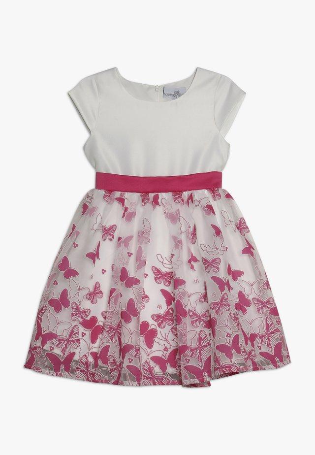 Sukienka koktajlowa - weiss/pink