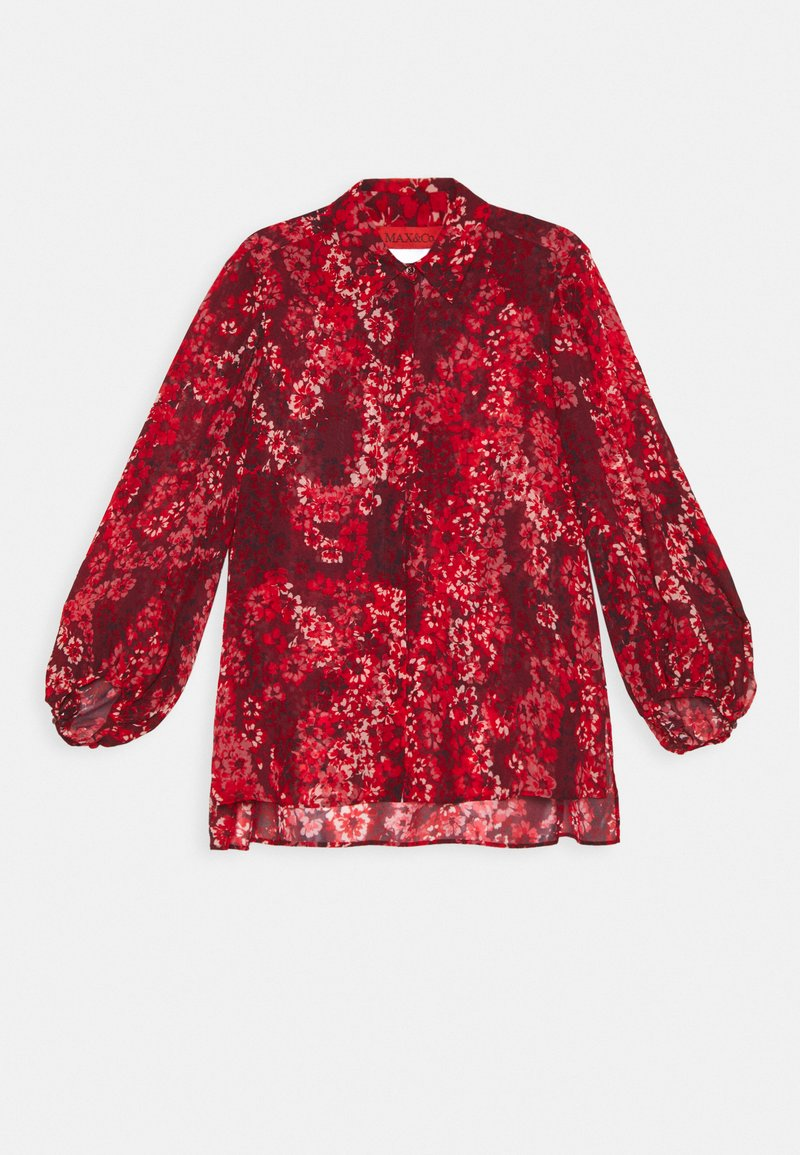 MAX&Co. - GLAMOUR - Button-down blouse - burgundy