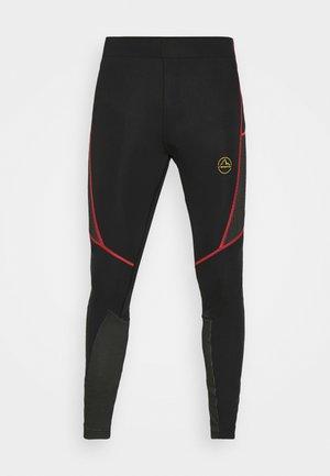 TRIUMPH PANT  - Leggings - black/yellow