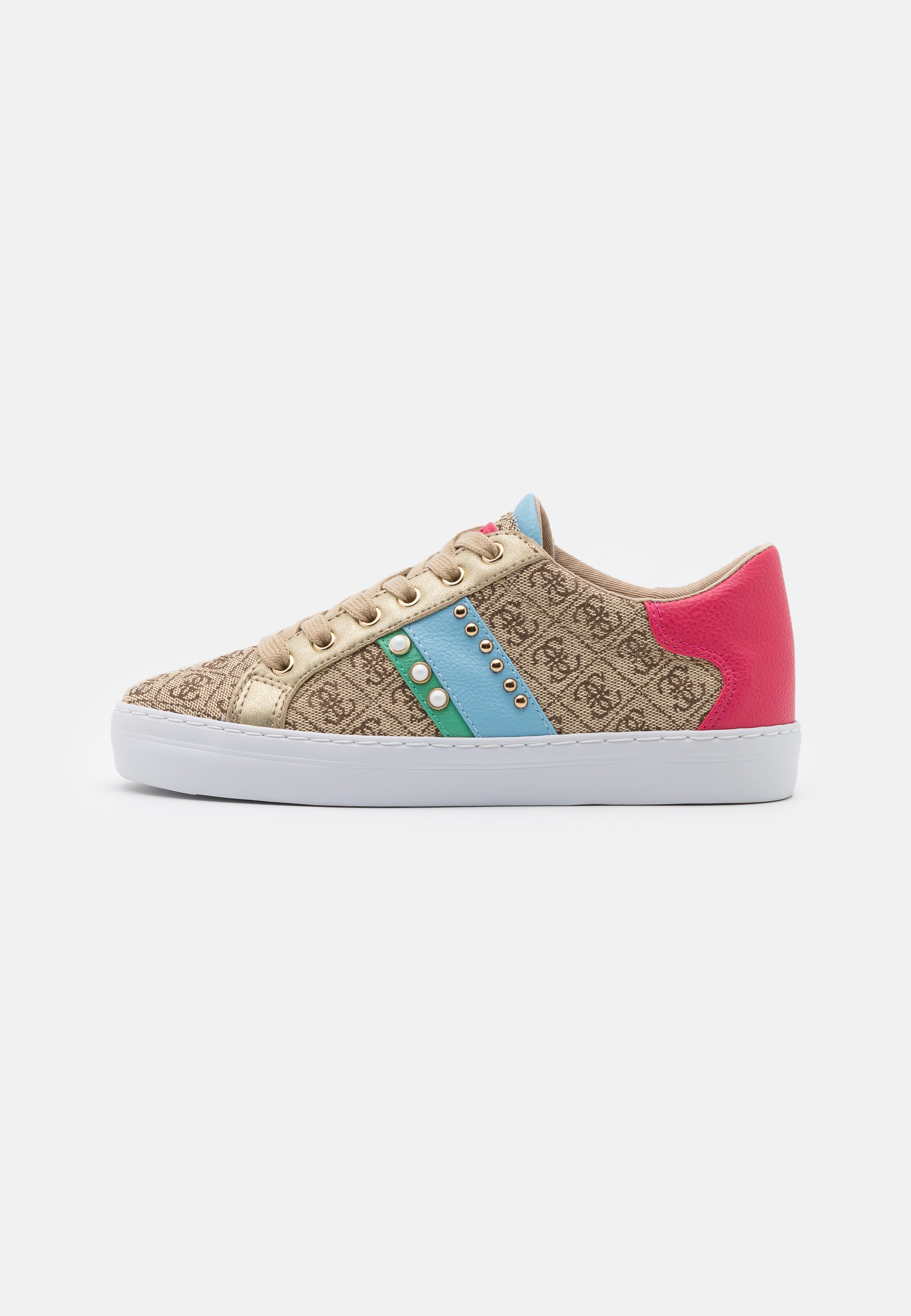 Guess - GRASEY - Sneakers basse - black pois/jungle