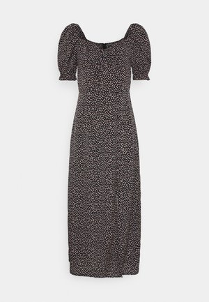 TIE BUST MILKMAID DRESS SPRINKLE - Day dress - black