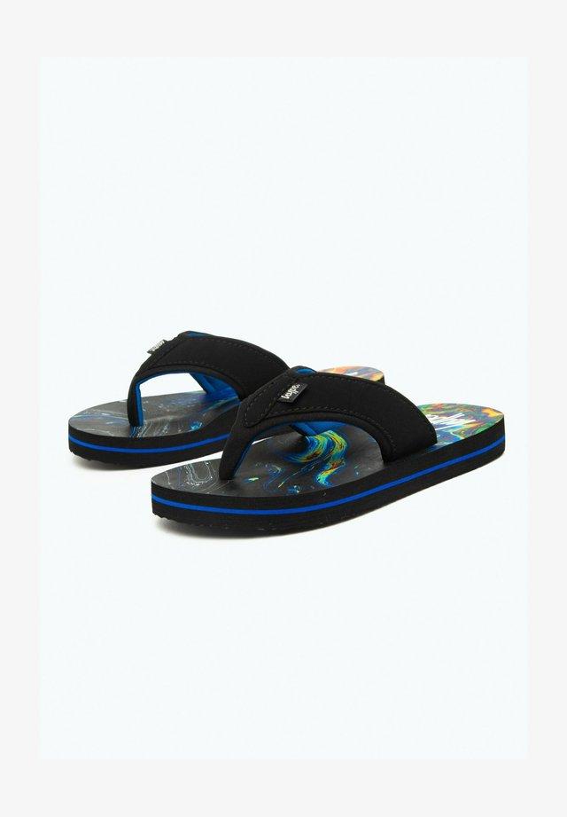 RAINBOW MARBLE - Pool shoes - black
