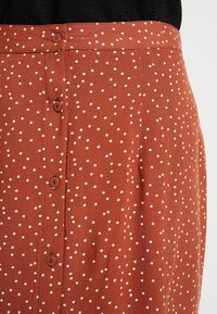 Object - Mini skirt - brown patina/white - 4