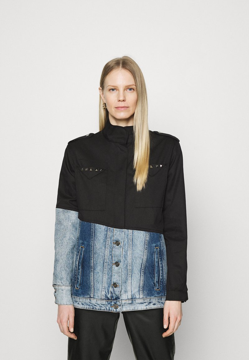 Desigual - DENVER - Kurtka jeansowa - black
